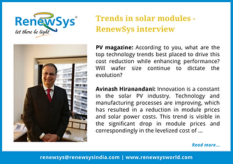 PV Magazine - Trands in solar modules -