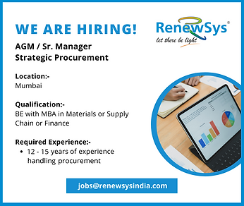 We are hiring-AGM or Sr. Manager Strateg