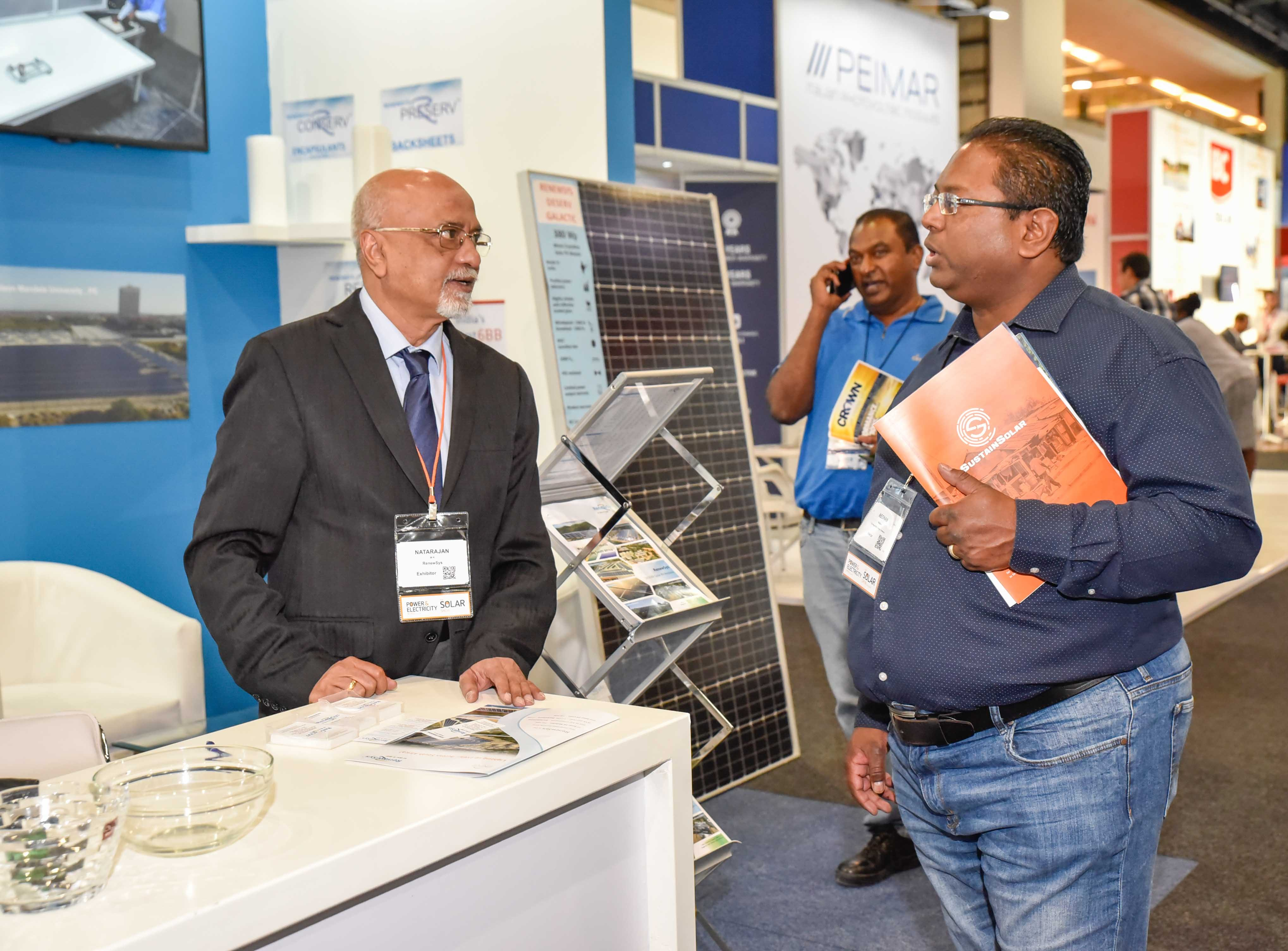 RenewSys booth at the Solar Show Africa.