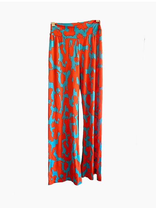 LOVE.CHEETAH SOLO PANTS multicolor orange