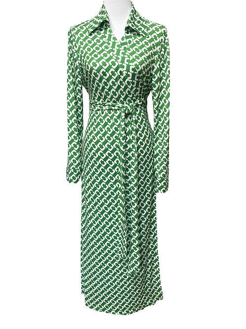 WRAP DRESS STELLA GREEN