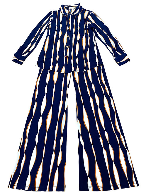 SUIT JAZZY BLUE/WHITE