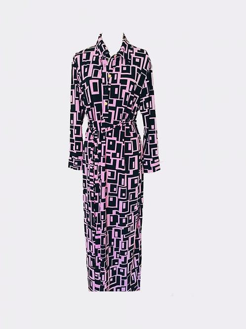 LOVE.CHEETAH IRMA MAXI DRESS BLACK/PURPLE