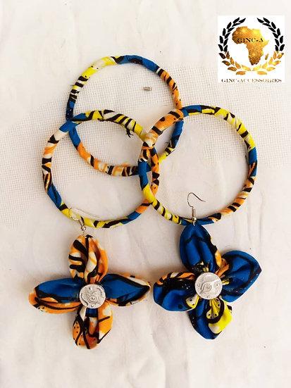Boucles d'oreilles et bracelets en Wax