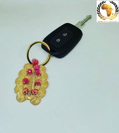 Porte-clé avec bijou akan