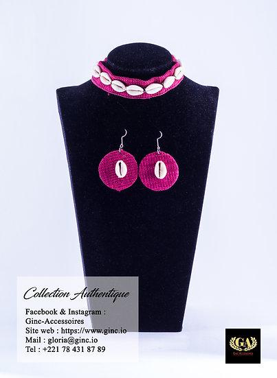 Ensemble collier et boucles d'oreilles