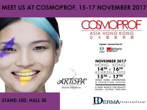15-17.11.2017 ARTiSPA na największych targach w regionie Azji i Pacyfiku - COSMOPROF ASIA HONG KONG