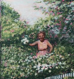 Grandma Stella, pastel, 9 x 9