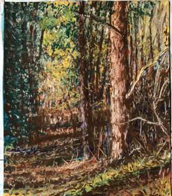 Walk in Autumn, pastel, 8.5 x 10.5