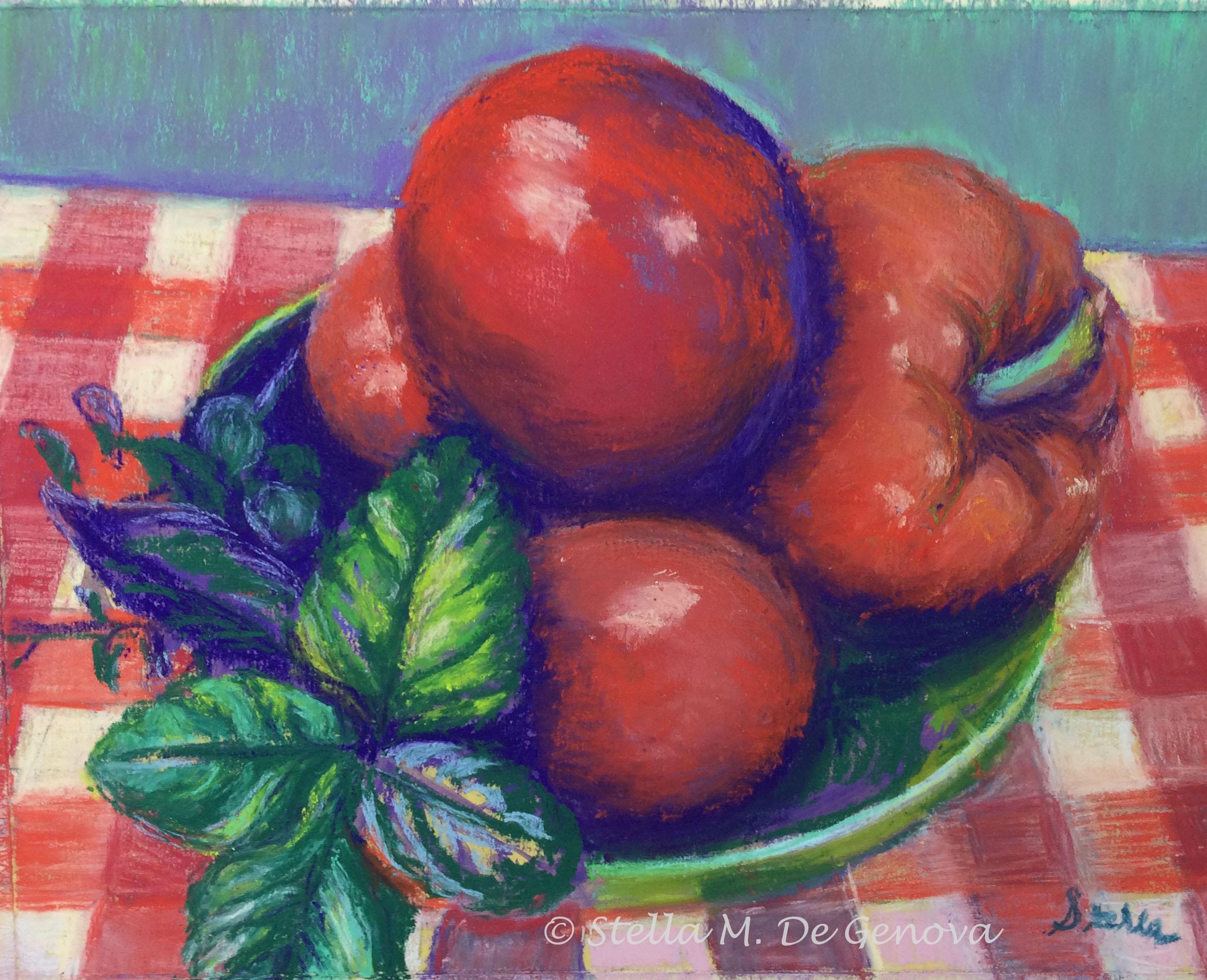 Italian Kitchen, pastel, 11 x 14