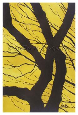 Be a Tree,mixed media, 11 x 14