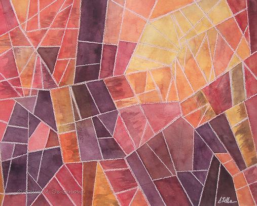 A gallery showcasing interpretive or abstract works