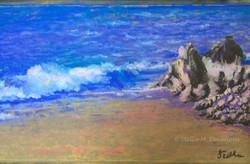 Beach Meditation, pastel, 12 x 16