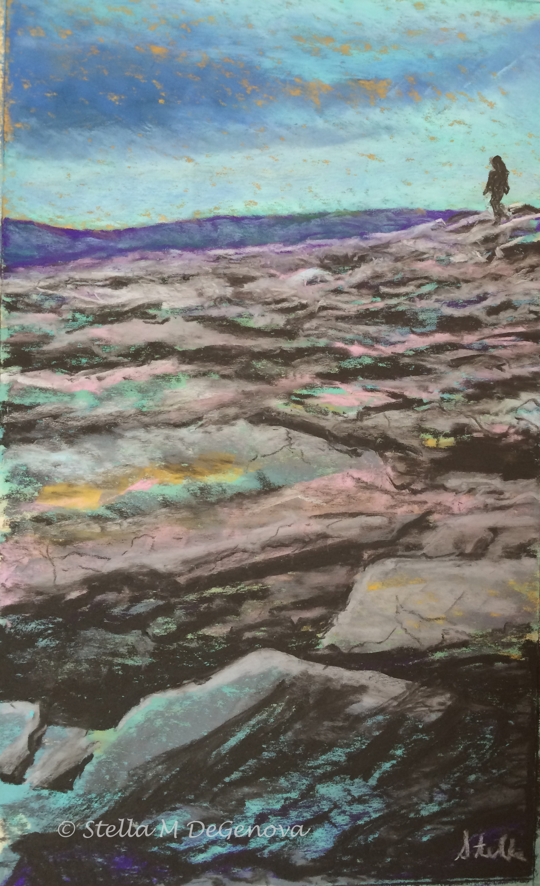 The Burren-Ireland, pastel, 12 x 18