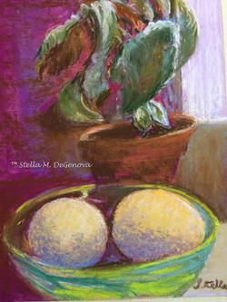 Sunny Still Life pastel, 11 x 14