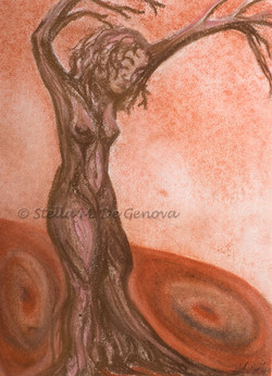 The Giving Tree, pastel pencil, 8 x 10