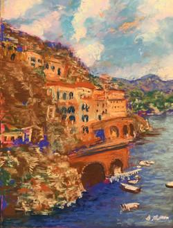 Amalfi Coast, pastel, 11 x 14