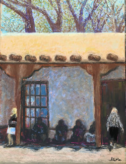 Living Ghosts - Santa Fe, NM, pastel