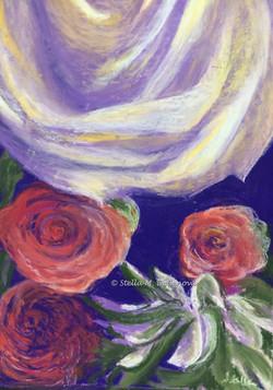 Bouquet, pastel, 12 x 18