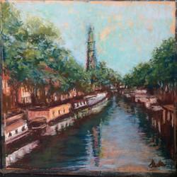 Amsterdam, pastel, 10 x 10