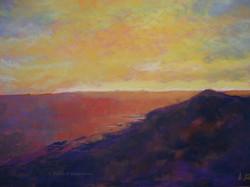 Cabo Sunset, pastel, 11 x 14