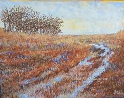Spring Thaw, pastel, 11 x 14