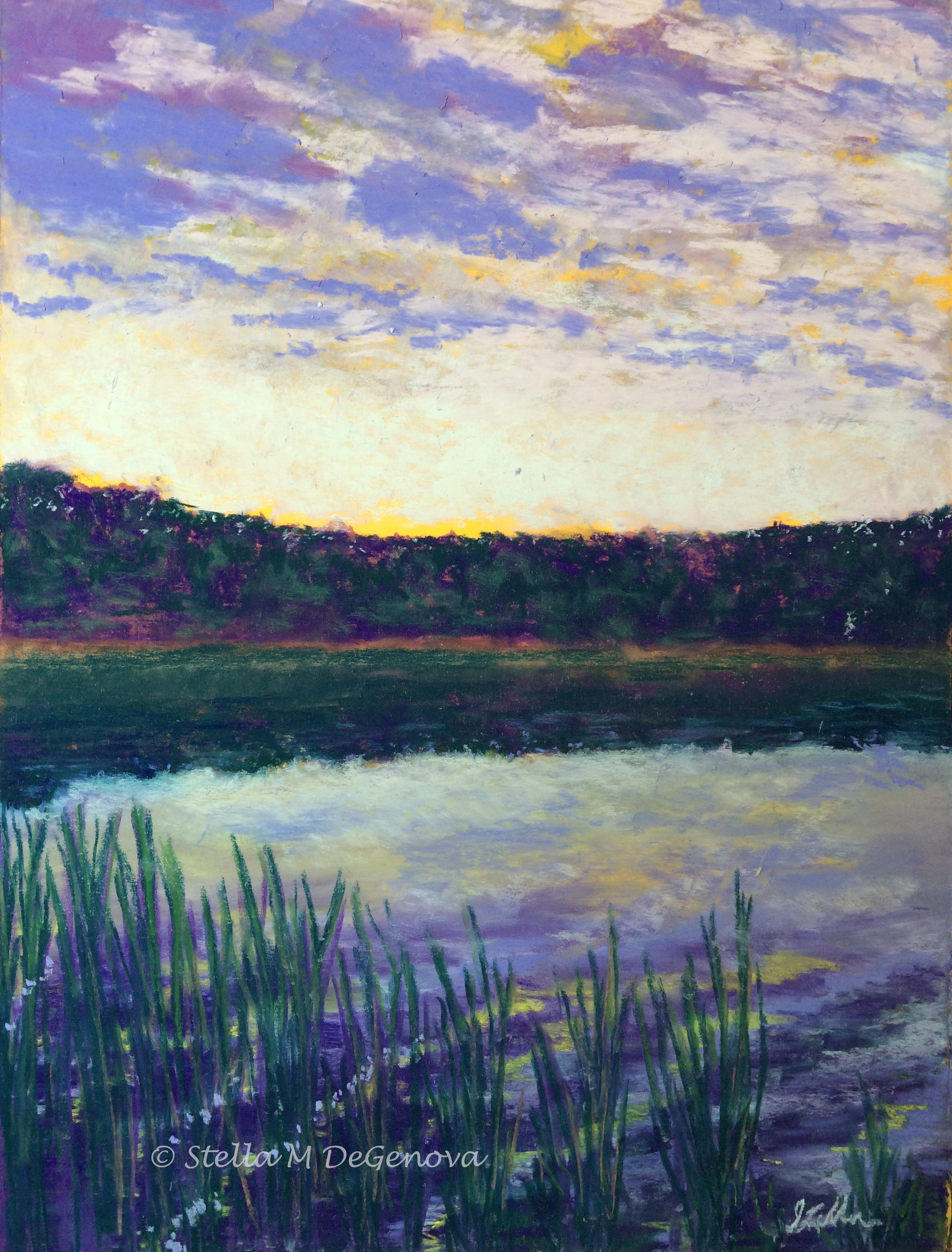 Lake View, pastel, 16 x 20