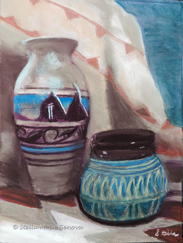 Navajo Pottery, pastel, 12 x 16