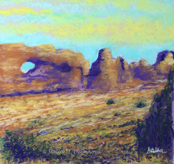 North Arch - Grand Canyon, pastel, 14 x 14
