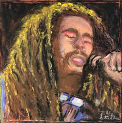 Poet, pastel, 12x12