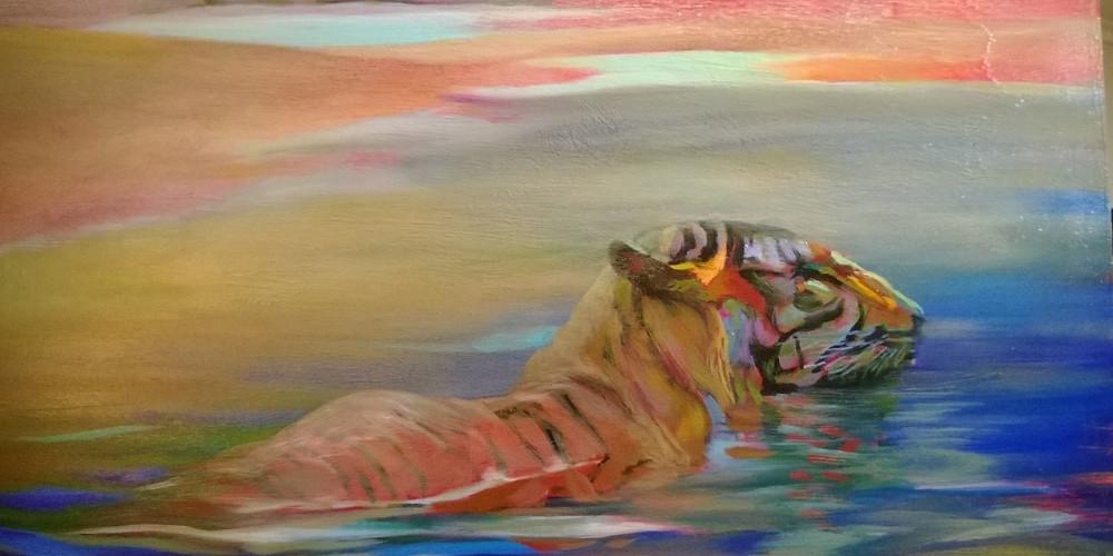 Roy Zuniga, Swimming Tiger (2013)