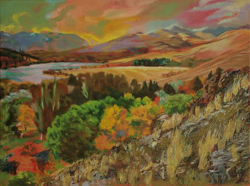 """Pearrygin Lake (48"""" x 36"""" Oil on Canvass)"""