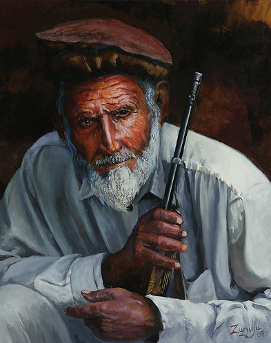 "Old Soldier (16"" x 20"" Oil on Canvass)"