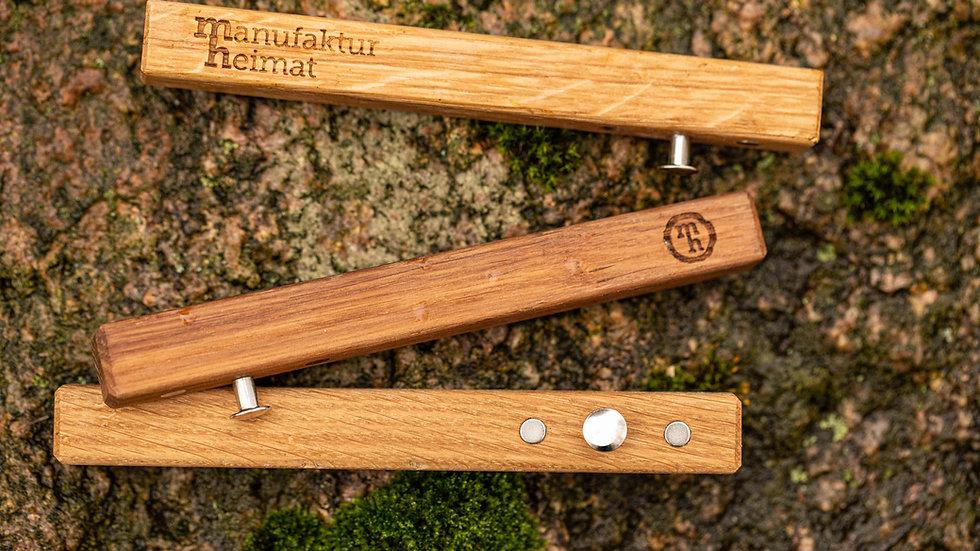 Premium-Flaschenöffner mit Magnet aus Eichenholz