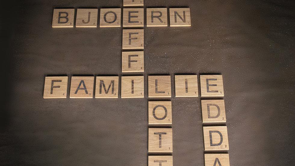 Holzbuchstaben aus Eichenholz
