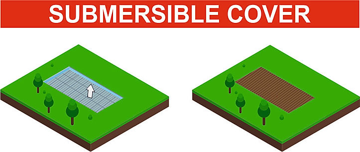 Draw about Submersible safety and luxury swimming pool cover