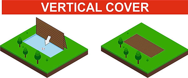 Draw about Vertical safety and luxury swimming pool cover