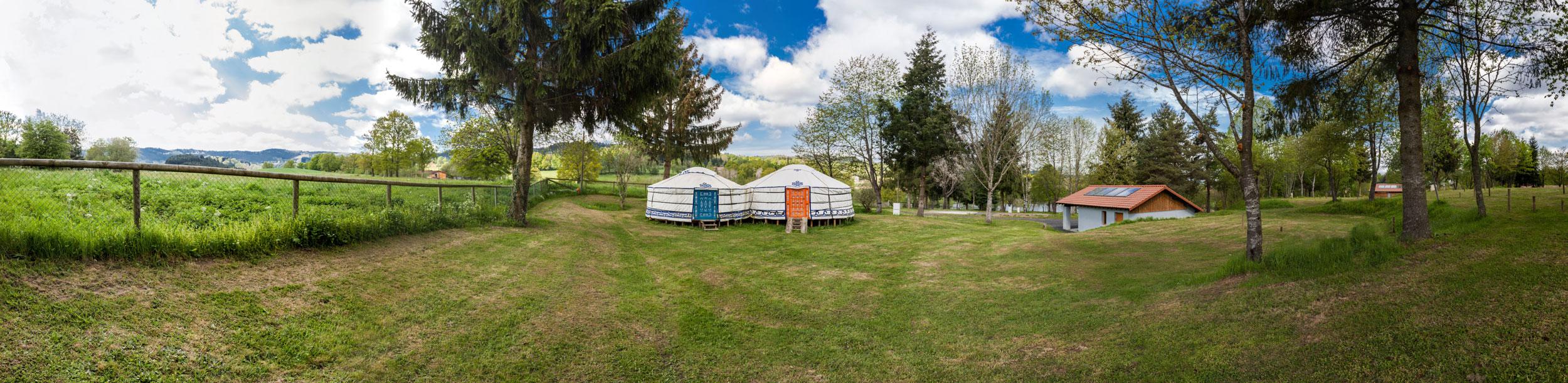 Yourtes Camping Cunlhat Puy de Dôme