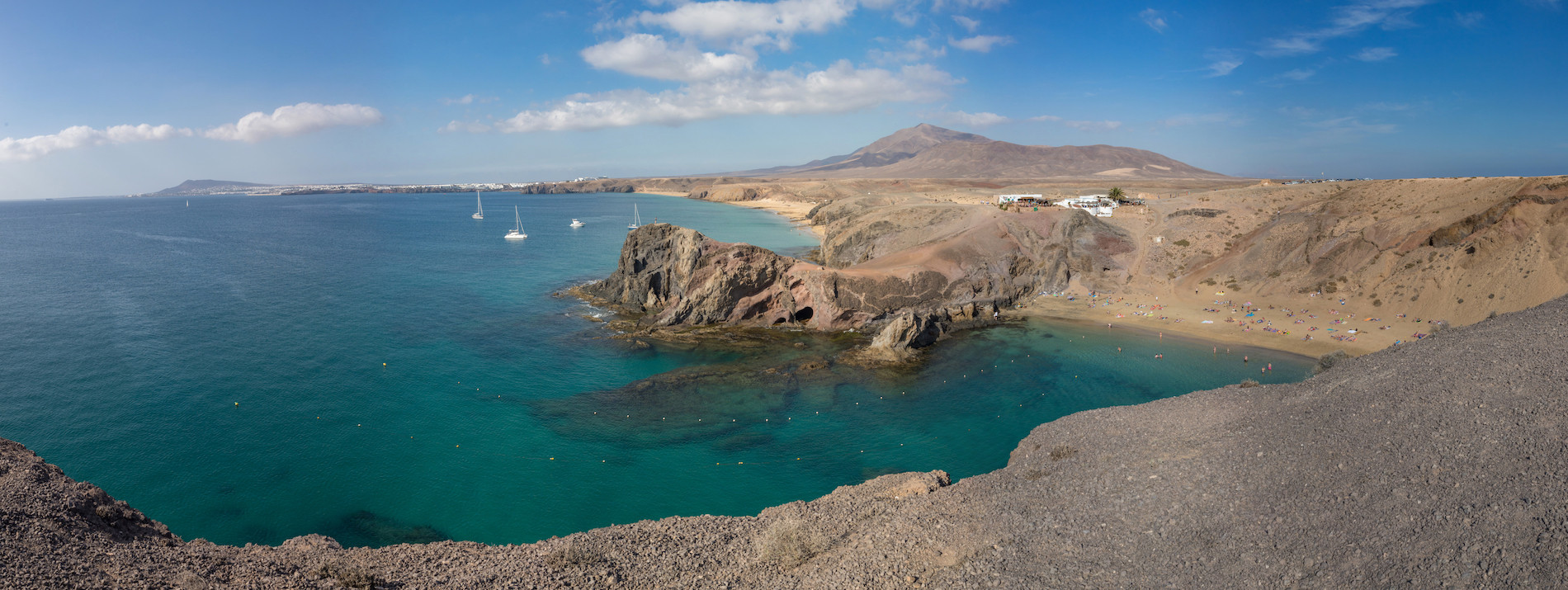 PHOTO Lanzarote Playa de Papa Gayo panoramique