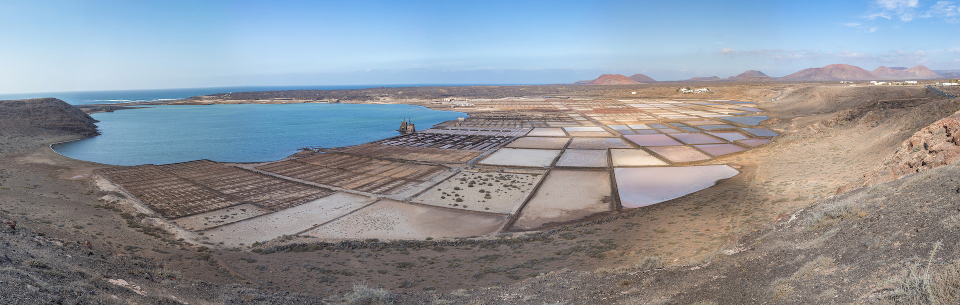 PHOTO Lanzarote marrais salant panoramique