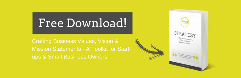 FREE Crafting Business Values, Vision, Mission Statement Toolkit