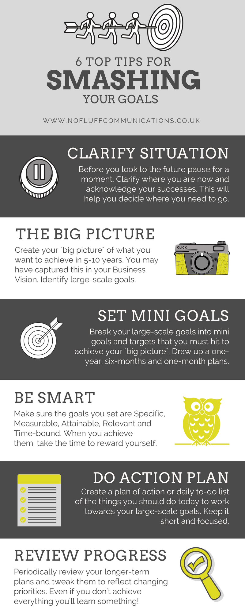 No Fluff 6 Top Tips For Smashing Your Goals