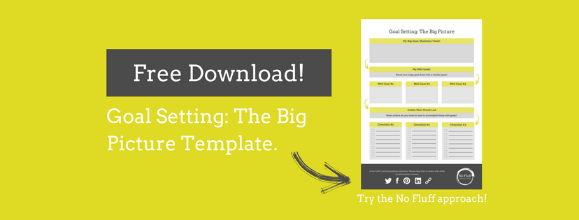 Free Goal Setting: Big Picture Template