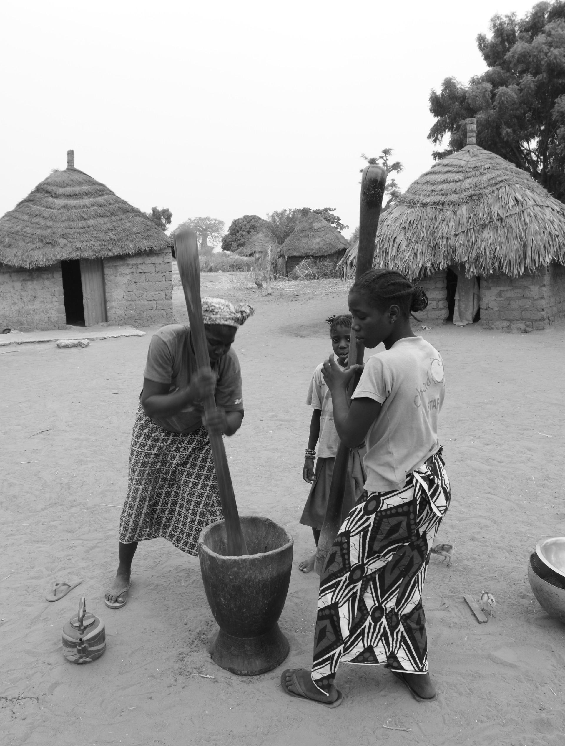 Portrait Afrique village en brousse