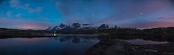 La Meije depuis le lac noir