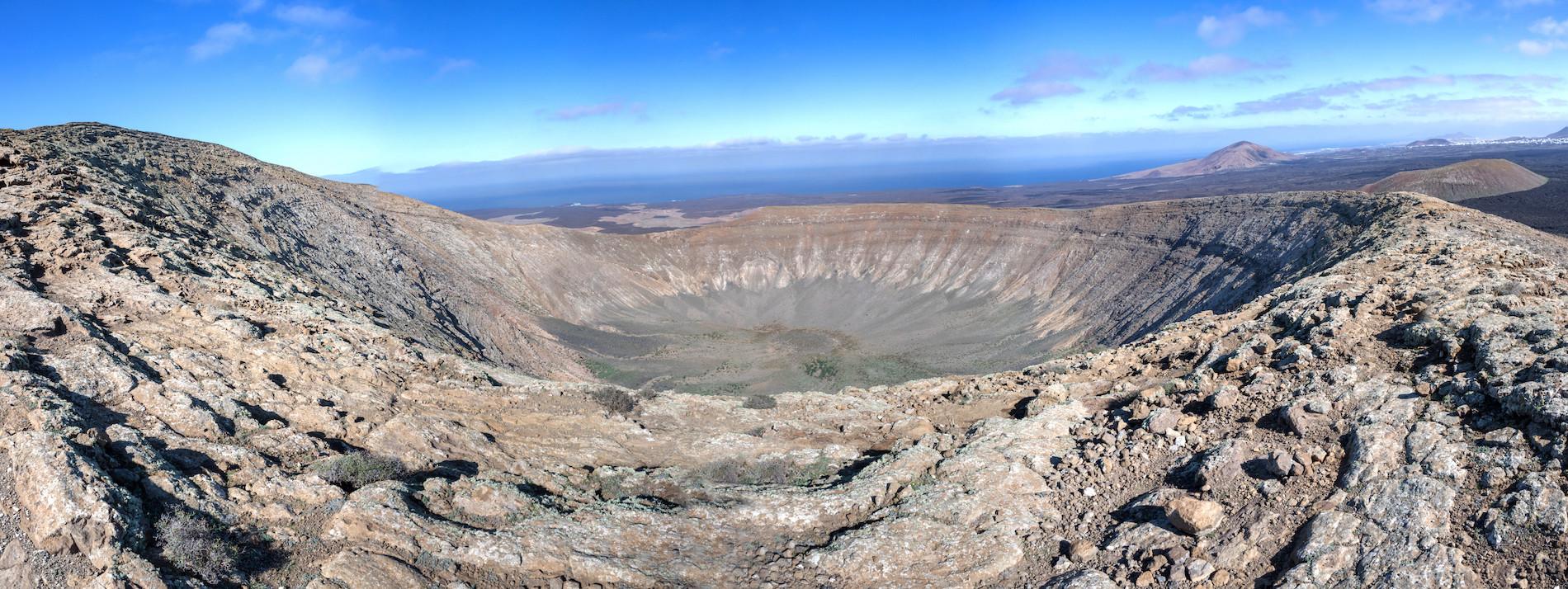 PHOTO Lanzarote Caldera Blanca panoramique