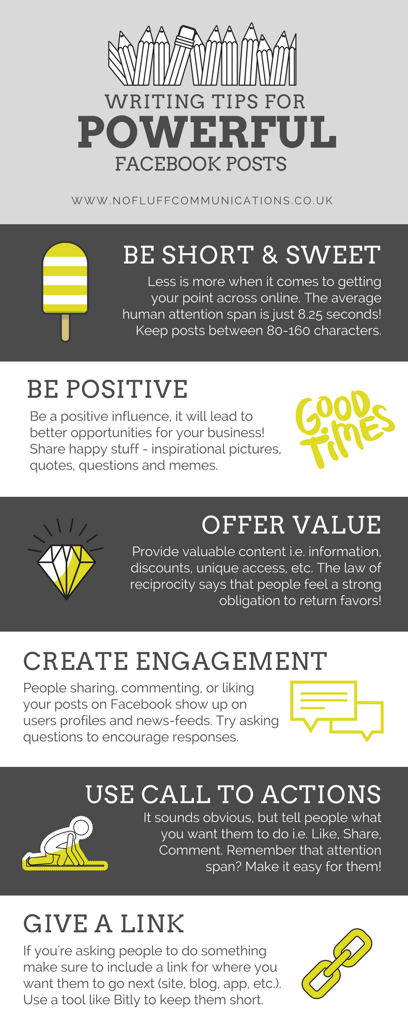 No Fluff Writing Tips For Powerful Facebook Posts