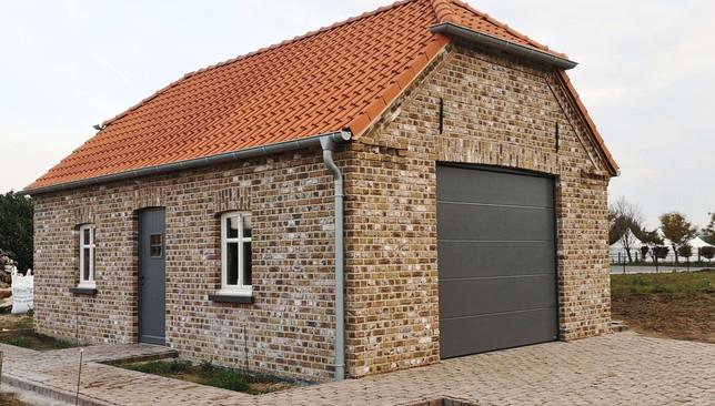Hochbau einer Garage