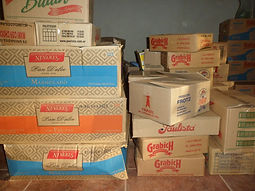 Cajas de productos alimenticios