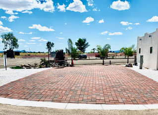 Golf and brick paver construction update.